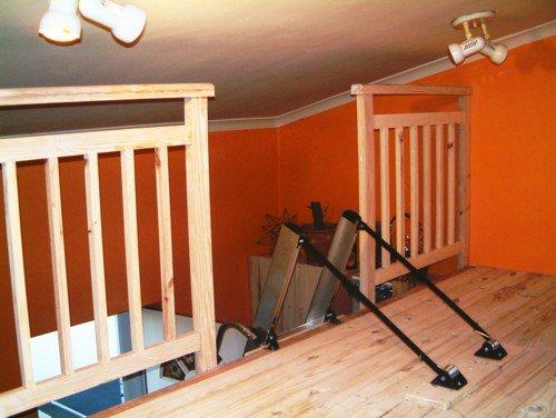 Mezzanine Floor With Hideaway Loft Ladder Loft E Ladder