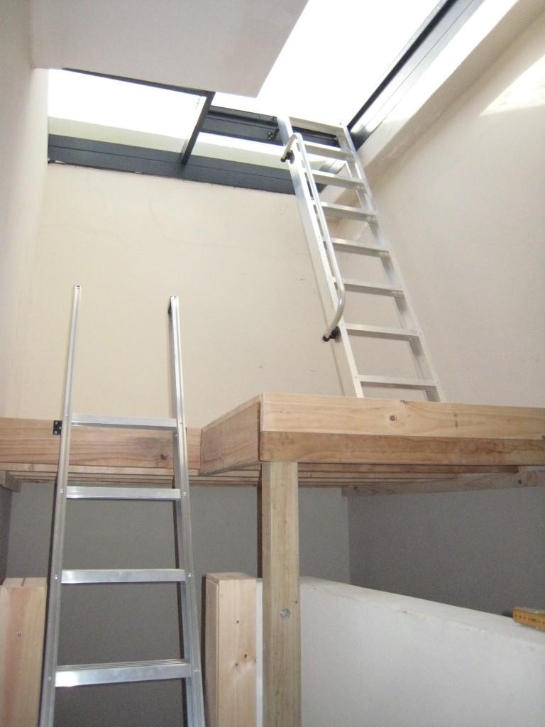 Mezzanine Floor with Two Loft Ladders